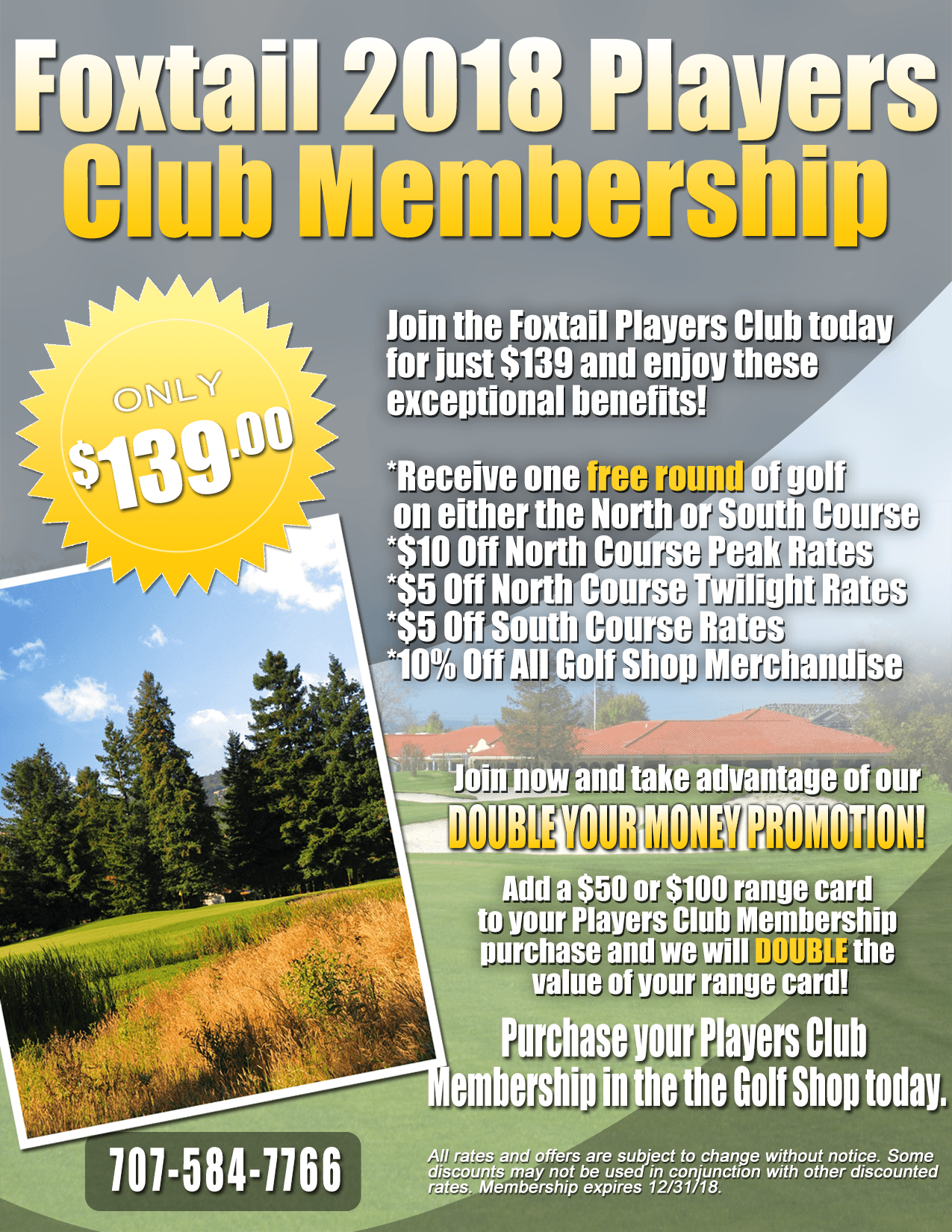 2018Players Club Membership